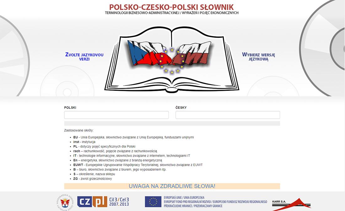 polsko-czesko-polski slownik terminów biznesowo adminstracyjnych
